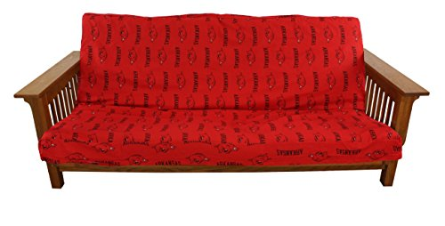 College Covers NCAA Arkansas Razorbacks Futon Lounge Cover, Full (Bright Futon Cover)