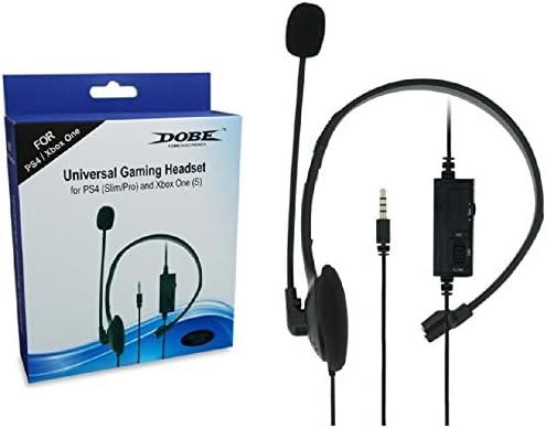 Dobe PS4 - Auriculares con micrófono y control de volumen para ...