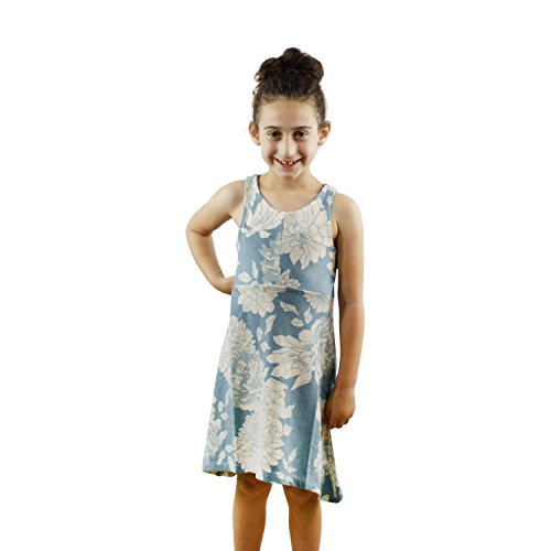 Price comparison product image Bella Rose Playwear Flora Blue Floral Dress Soft Maxi Dress Made In USA (4)