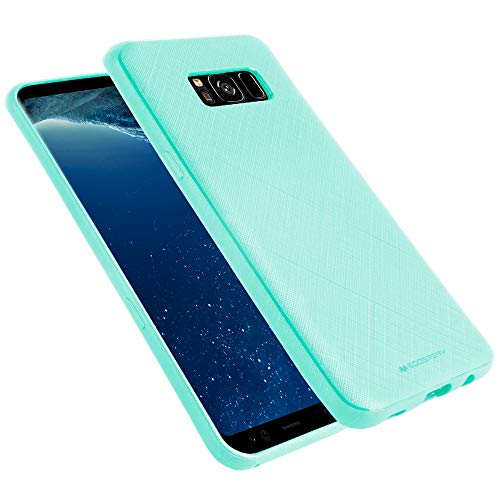 Jelly Cover - GOOSPERY Galaxy S8 Case Thin Fit for Women Girls [Style Lux] Slim Rubber Case [Non Slip Grip] TPU Silicone Jelly Bumper Cover for Samsung Galaxy S8 (Sky Blue) S8-STYL-SBLU