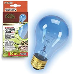 Day Blue Light Incandescent Bulb for Reptiles [Set of 2] Watt: 50 Watts