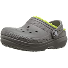 Crocs Kid's Classic Lined Clog  | Indoor or Outdoor Warm and Cozy Toddler Shoe or Slipper