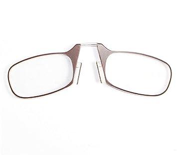 adeda26295 Gafas de Lectura de la Nariz del Clip, anteojos Mini ópticos portátiles  Anteojos para Personas Mayores con Estuche, Negro, 1.50  Fuerza,Brown,1.50Strength: ...