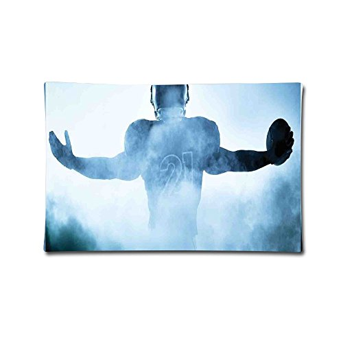 Heroic Animal (BZTSDIK0SJ Heroic Shaped Rugby Player Silhouette Shadow Standing In Fog Playground Global Sports 100% Cotton Decorative Cushion Cover Pillow Covers Case)