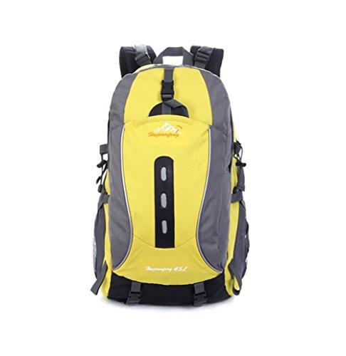 Wmshpeds Excursión de montañismo bolso exterior hombres y mujeres mochila camping caballo paquete de gran capacidad 45L A