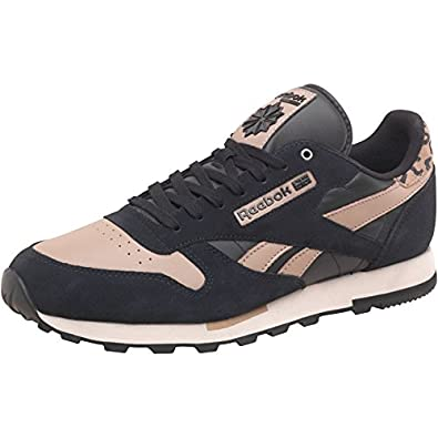 Mens Reebok Classic Leather Utility Trainers Black Canvas Paprika Guys  Gents (11.5 UK 9b130074f