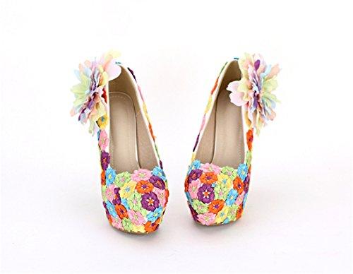 Miyoopark femme Multicolore Heel compensée Semelle 14cm 35 Multicolor tqrxEtnwR