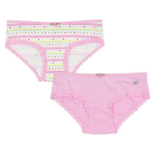 Lucky & Me Ava Little Girls Bikini Underwear, Butterfly Kisses Print, 6 Pack, Tagless, Soft Cotton, 2/3 by Lucky & Me (Image #2)