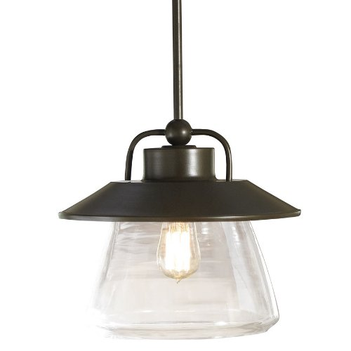 allen + roth Bristow 12-in W Mission Bronze Pendant Light with Clear Glass - And Roth Allen Bristow