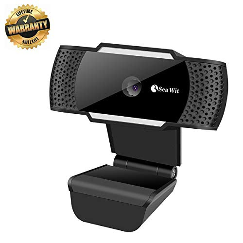 Sea Wit Webcam,USB 2.0 Web Camera with Built-in Microphone for Video Calling,Support Skype,Facebook etc - Black