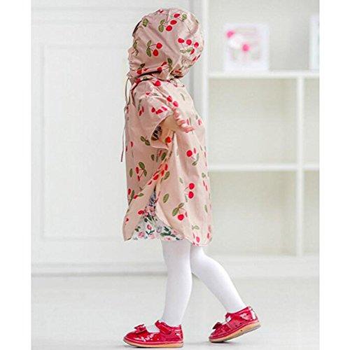 centimetri hibote Poncho bambini Animal fumetto Bambini 130 Forme Rosa Raincoat centimetri 90 wq6vwUT