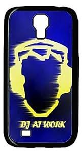Brian114 Samsung Galaxy S4 Case, S4 Case - Cool Black Back Hard Case for Samsung Galaxy S4 I9500 Dj At Work Design Hard Snap-On Cover for Samsung Galaxy S4 I9500