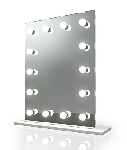 (Diamond X Hollywood Makeup Vanity Mirror with Daylight Dimmable LED k412sCW)