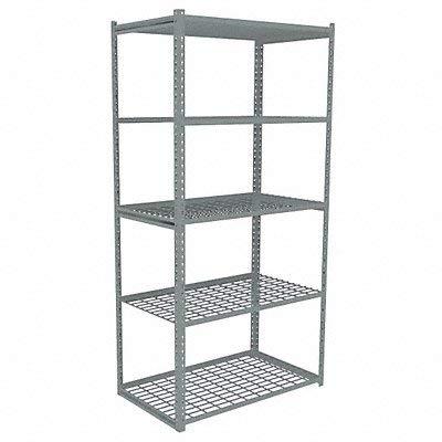 (Tennsco - ZAH7-4824S-5W - 48 x 24 x 84 Steel Boltless Shelving Starter Unit, Gray; Number of Shelves: 5)