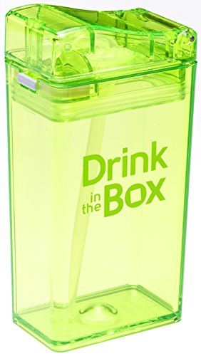 Drink in the Box Eco-Friendly Reusable Drink and Juice Box Container by Precidio Design, 8oz (Green)