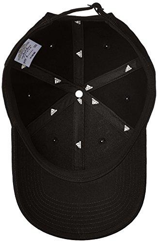 6p Tenis Gorra Negro Hombre de adidas Blanco Negro Negro Cotton Pagdxq