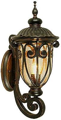 Apliques de exterior QWER Luz de Pared Exterior del jardín de la lámpara Impermeable IP44 Fachada Aplique de la luz de la Esquina Garaje Entrada Comedor Pasillo de iluminación Apliques de Pared: