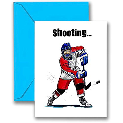 Play Strong Hockey Birthday Card (5x7) Sports Birthday Greeting Cards - Awesome for Players, Coaches and Fans Birthdays, Gifts and Parties! #AllProfitsToHelpKids (Hockey Birthday Card)