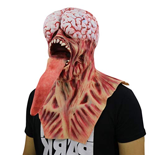 Ugly Monster with Long Tongue Halloween Creepy Mask