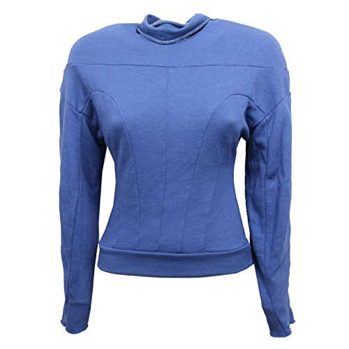 B6524 Blu Cycle Cobalto Felpa Woman Sweatshirt Felpe Donna UUzwfFPCq