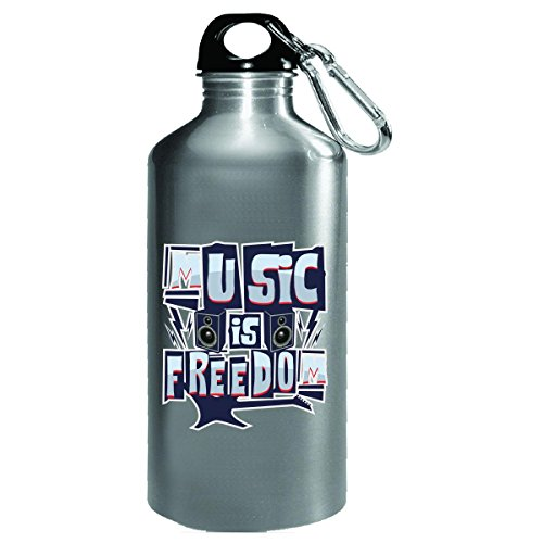 Music Is Freedom - Water Bottle by Katnovations