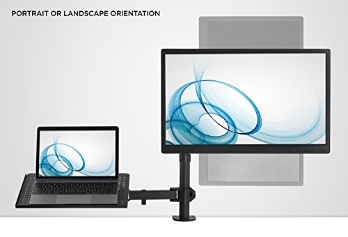 MI-4352LTMN Laptop Desk Stand And Monitor Mount Full Motion Height Mount-It
