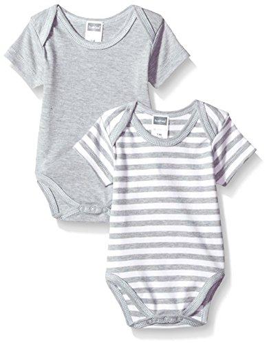 Kushies Baby Boys Classics Bodysuits 2-Pack, Grey 1m
