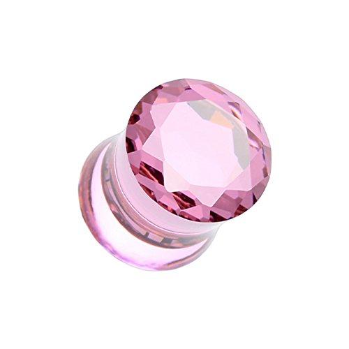 - Faceted Crystalline Gem Double Flared WildKlass Ear Gauge Plug (Sold as Pairs)