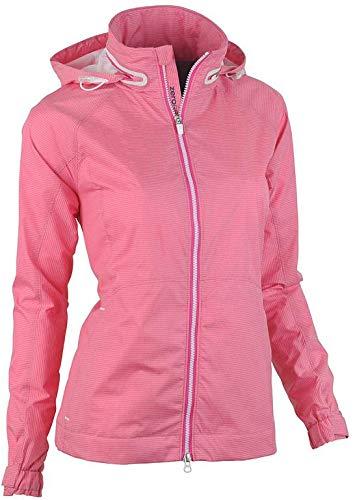 Zero Restriction New Golf Parker Dazzle Pink Women's Medium Wind Jacket