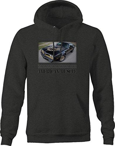 American Muscle Pontiac TransAm Screaming Eagle Black Hotrod Sweatshirt - - Eagle Am