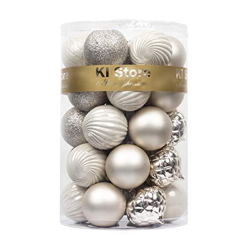 Bolas de Navidad de 60 mm para decoración de árbol de Navidad, 34 piezas de bolas irrompibles para decoración de Navidad, decoración de festivales