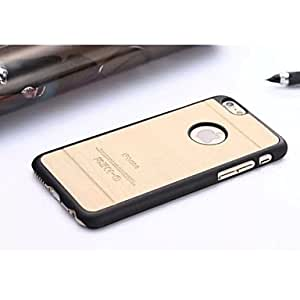 Fashion Solid Colid Slim Wood Hard Case Cute Cool Phone Back Cover Cover for iPhone 6 ,Color:Black Protective Smartphone Shell