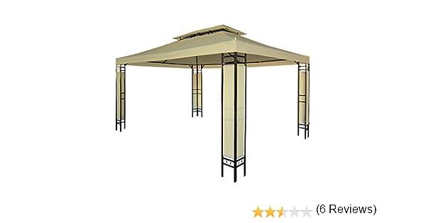 MIADOMODO - Carpa para jardín y terraza Beis de 3 x 4m: Amazon.es ...