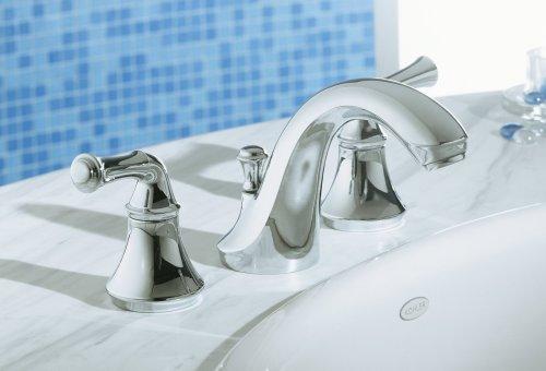 KOHLER K-10272-4A-BN Forte Bathroom Sink Faucet, Brushed Nickel