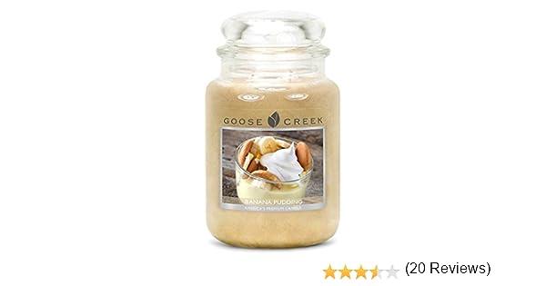 Goose Creek Banana Pudding – Vela perfumada en Tarro, Crema, 24 oz: Amazon.es: Hogar