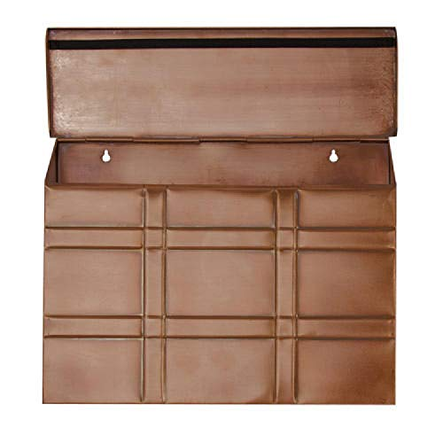 - Naiture Grid Wall-mount Mailbox in Antique Copper Finish