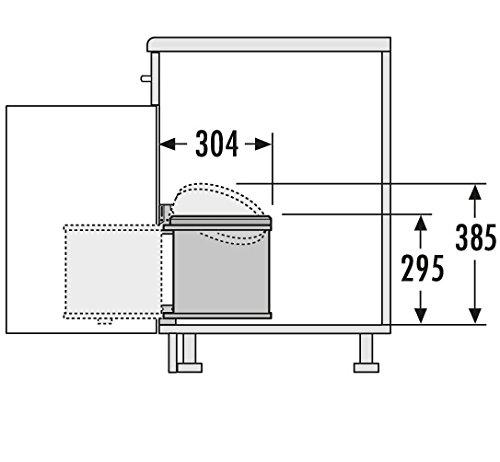 Hailo Mono 12 L Küchen Mülleimer weiss Bad Abfalleimer für