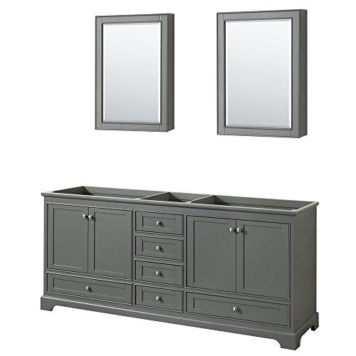 CS202080DKGCXSXXMED Deborah Double Vanity Cabinet, 80