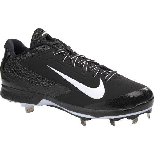 Men's Nike Air Huarache Pro Baseball Cleat Black/White Si...