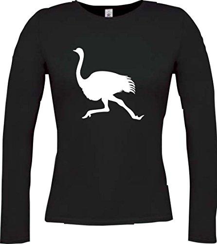 Krokodil - Camiseta - Casual - Cuello redondo - Manga Larga - Mujer negro