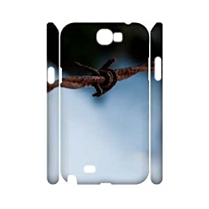 2015 popular 3D barb wire macro Samsung Galaxy Note 2 Case For Women, Luxury Case For Samsung Galaxy Note 2 N7100 [White]