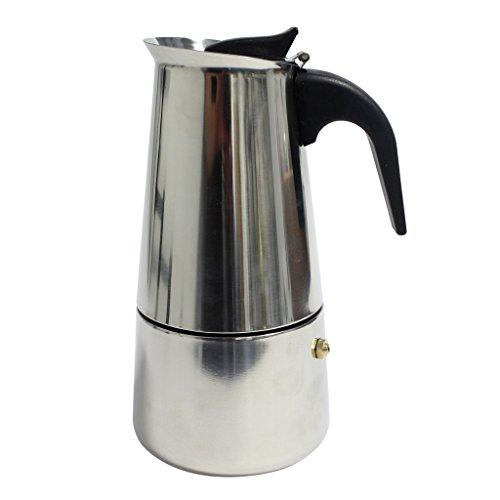 KurtzyTM Edelstahl-Espressokanne - 6 Tassen - Espressomaschine im italienischen Stil für den Herd