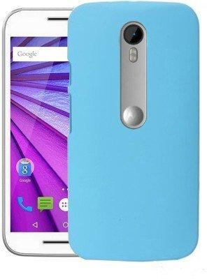 wholesale dealer 021d9 3840d WOW Imagine(TM) Rubberised Matte Hard Case Back Cover for Motorola Moto G3  G 3rd Gen/Moto G Turbo - Sky Blue