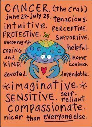 cancer zodiac sign positive traits fridge magnet