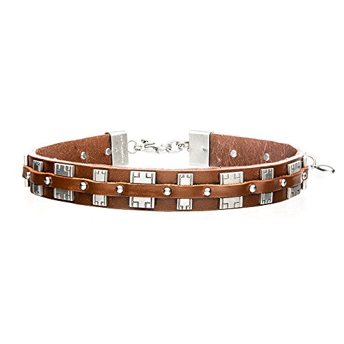 Officially Licensed Star Wars Chewbacca Bandolier, Artwork - Stylish Stainless Steel Leather Cool Choker -