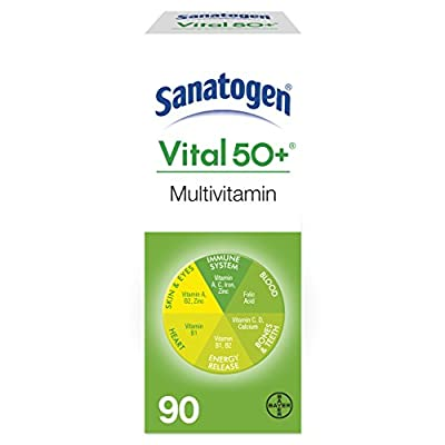 Sanatogen Vital 50+ Multi Vitamin & Mineral Supplement With Ginkgo & Ginseng Tablets 90 Tablets