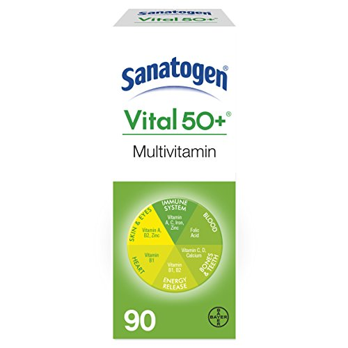 Sanatogen Vital 50+ Multi Vitamin & Mineral Supplement With Ginkgo & Ginseng Tablets 90 (Ginkgo 50 Tab)