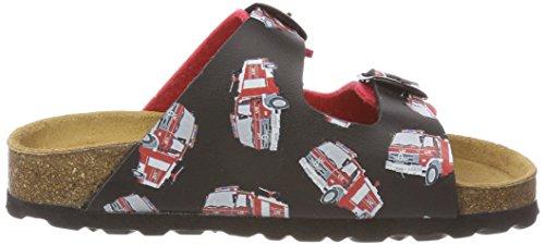 Lico Bioline Flame, Zapatillas de estar Por Casa Para Niños Rojo (Rot Rot)