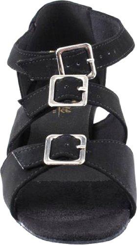 Zapatillas De Salón De Baile Para Mujeres Zapatos De Práctica De Salsa De Partido 1679eb Cómodo -muy Fino 1.5 {paquete De 5} Blacknubuck