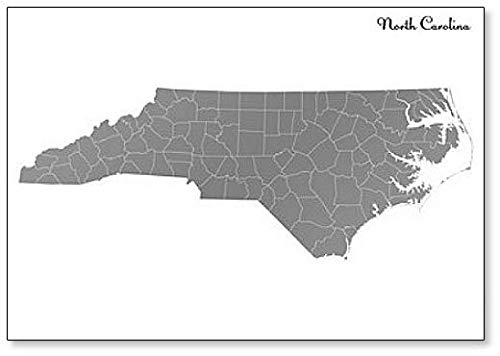 (North Carolina Map State of United States Fridge Magnet)